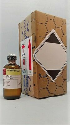Ethylene Glycol 4 Oz Amber Glass Bottle 120ml Msds Included