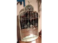 Attractive Metal Shabby Chic Bird Cage Mirror