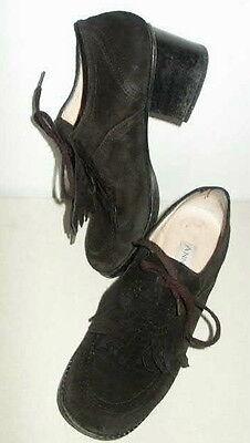 chaussure en daim noir anne kleinii créateur anversois-souple belle qualité 37