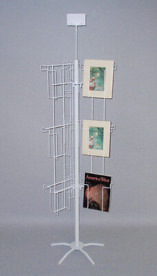 18 Pocket Literature Floor Display Rack Magazine 8 12 Made In Usa