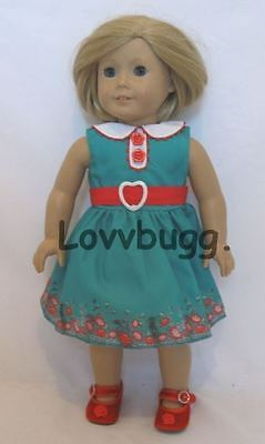 "Lovvbugg Meet Garden Blooms Dress for 18"" American Girl Kit Doll Clothes"