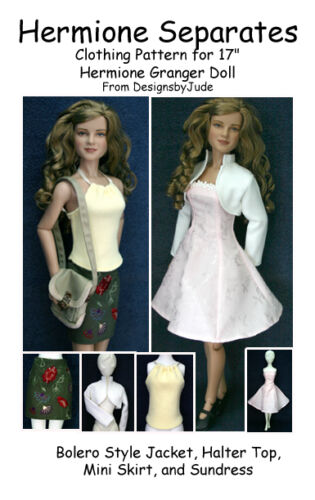 Separates Doll Clothes Sewing Pattern Hermione & Nancy Drew Tonner