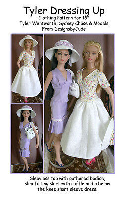 Dressing Up Doll Clothes Sewing Pattern for Tyler, Tonner