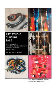 Moving and Art Studio Closing Sale