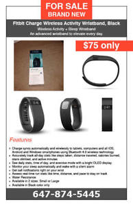 Fitbit Charge Activity Wristband - Black Colour - $75 only