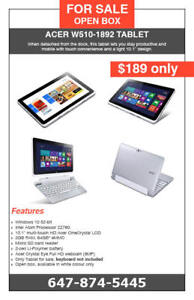 ACER W510-1892 Tablet - $189 only