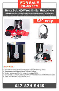 Beats Solo HD Wired On-Ear Headphone - $89 only