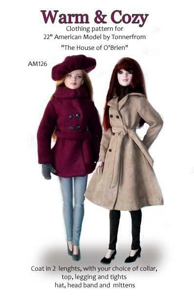 "AM126 Warm & Cozy coats + pattern for 22"" American Model, Tonner"