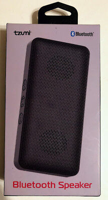 对于出售 TZUMI Speaker Mini Portable Bluetooth Wireless Ultra Slim Pocket-Sized Black NEW