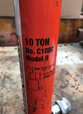 Power Team C108c - 10 Ton 8 Stroke Hydraulic Cylinder
