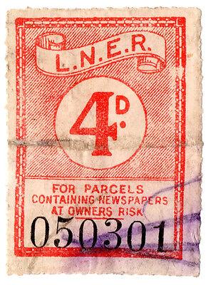 (I.B) London & North Eastern Railway : Newspaper Parcel Stamp 4d