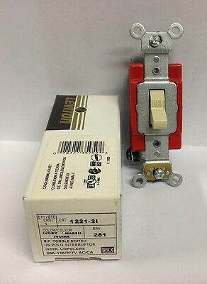 Leviton Single Pole Industrial Ivory Toggle Switch 1221-2i Nos 20a-120277v