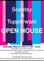 Tupperware & Scentsy Open House