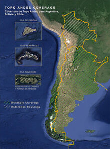 Topographic ( Topo ) Routable Map of Andes for Garmin / Kenwood