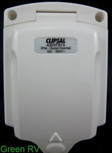Clipsal NEW STYLE 15amp 240 power inlet for you caravan motorhome camper trailer