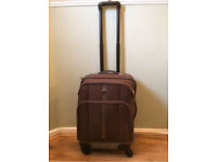 Brown purple small jeex suitcase for travel with wheels
