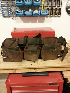 Kuny's Leather Pouch and Suspenders