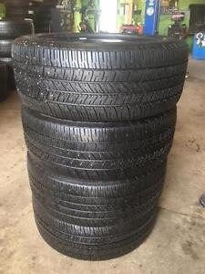 4 quality used P 245/55/18 Goodyear Eagle RSA all season tires Installed and Balanced