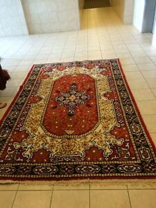 """Hand made area rug 100% wool size 8`- 9"""" x5` x 8"""" or 105"""" x 68"""""""