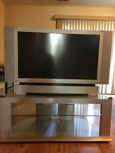 """43"""" Panasonic LCD HDTV and stand for sale"""