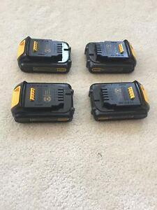 Dewalt 20V battery X 4 for swap