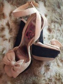 Lipsy block nude heels BN