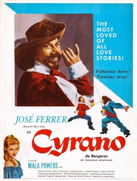 Cyrano De Bergerac Poster Top & Center Left Jose Ferrer OLD MOVIE PHOTO