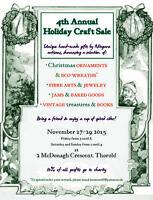 Fourth Annual Holiday Craft Sale