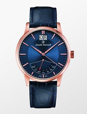 Claude Bernard By Edox Classics Retrograde Men's Watch 41001.37R.BUIR Swiss Made