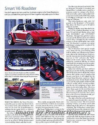2004 Smart V6 Roadster Original Car Review Print Article J735 - Smart Car Review