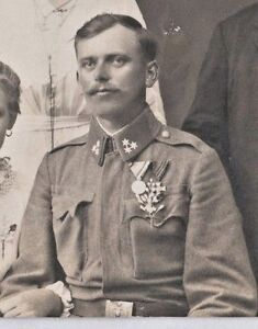 AUSTRIA HUNGARY 1914s - WWI - THE SOLDIER GROOM WITH AWARDS - A Brauner Zagreb - <span itemprop='availableAtOrFrom'>VIENNA , AUSTRIA, Österreich</span> - AUSTRIA HUNGARY 1914s - WWI - THE SOLDIER GROOM WITH AWARDS - A Brauner Zagreb - VIENNA , AUSTRIA, Österreich