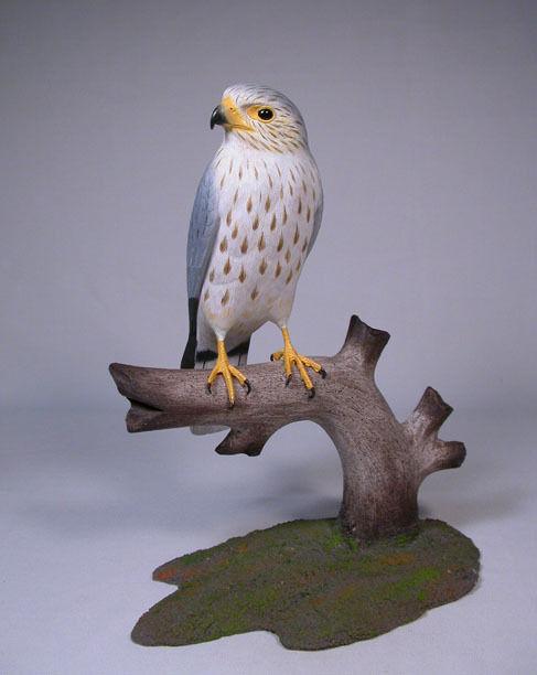 Merlin Original Wood Bird Wood Carvings/Birdhug