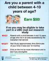 UBC is Seeking for Parents for Nutrition Research!