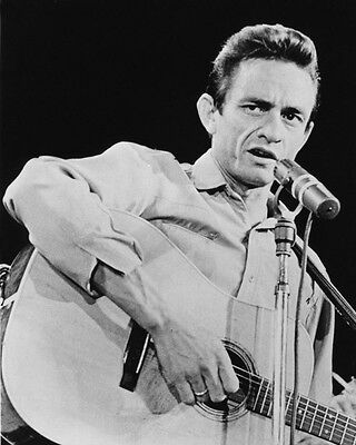1964 American Singer JOHNNY CASH Glossy 8x10 Photo Country Music Print Portrait