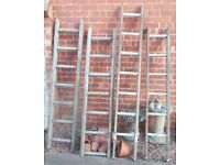 Ladders and 1 step ladder for decoration purposes ( EACH )