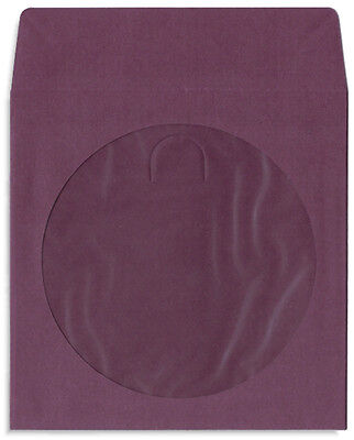 200-pak Purple Colored Paper Cddvd Sleeves With Window Flap