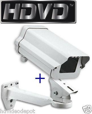 NEW Small Weatherproof Heavy Duty Aluminum CCTV Security Camera Housing + Mount