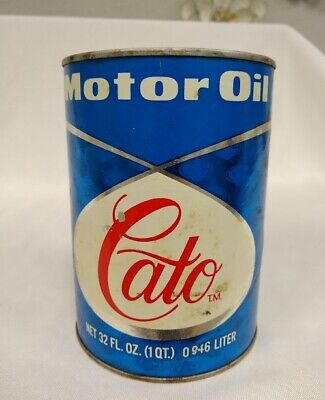 Vintage full Cato cardboard quart oil can Kerr-McGee military B SEQUENCE TESTED