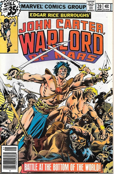 John Carter Warlord of Mars Comic Book #20 Marvel Comics 1979 NEAR MINT