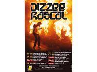 Dizzee Rascal Rock City Nottingham 2 standing tickets 17/10/2017