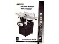 Axminster Planer Thicknesser AWEPT 106
