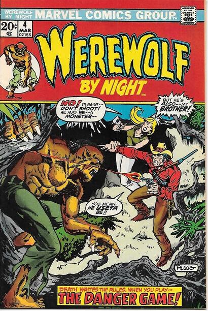 Werewolf By Night Comic Book #4, Marvel Comics 1973 VERY FINE