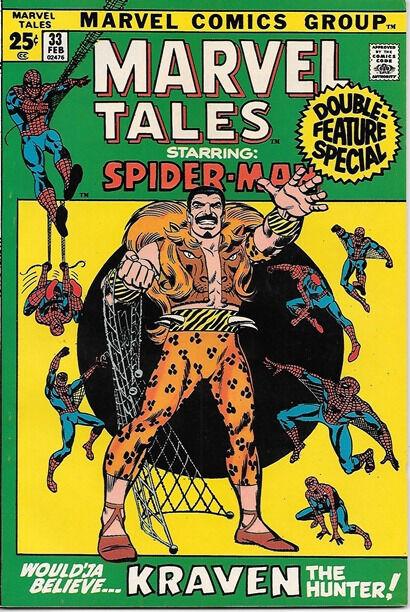Marvel Tales Comic Book #33 Marvel Comics 1972 VERY FINE-