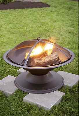 "Garden Treasures 29"" Outdoor Camping Fireplace Backyard Deck Patio Wood Fire Pit"