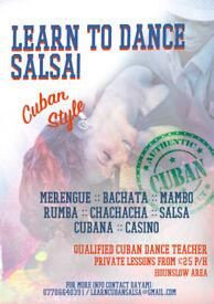 CUBAN STYLE SALSA CLASS. PRIV 1 TO 1