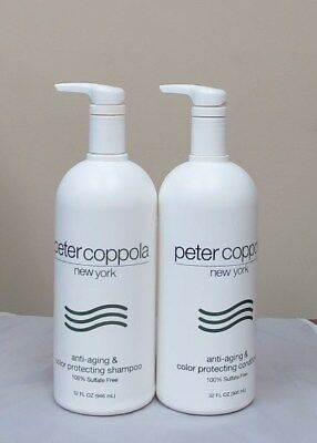 Peter Coppola Anti Aging Color Protecting Shampoo and Codnitioner 32 oz Anti Aging Protectant Shampoo