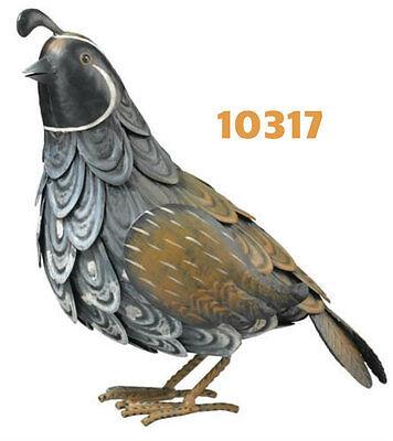 Garden Decor Bird Statuary - patina  Quail Decor Set Male & Female 11308-7