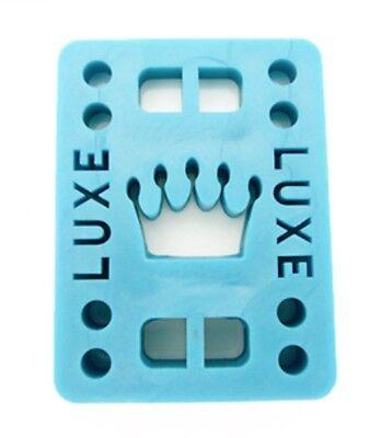 """Luxe 1/4"""" Straight Wall Skateboard Longboard Riser Pads (2 pcs) - BLUE"""
