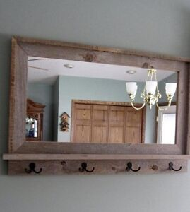 Entry mirror / coat rack
