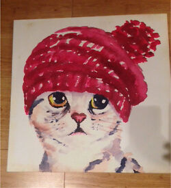 Cat Canvas Print 19""